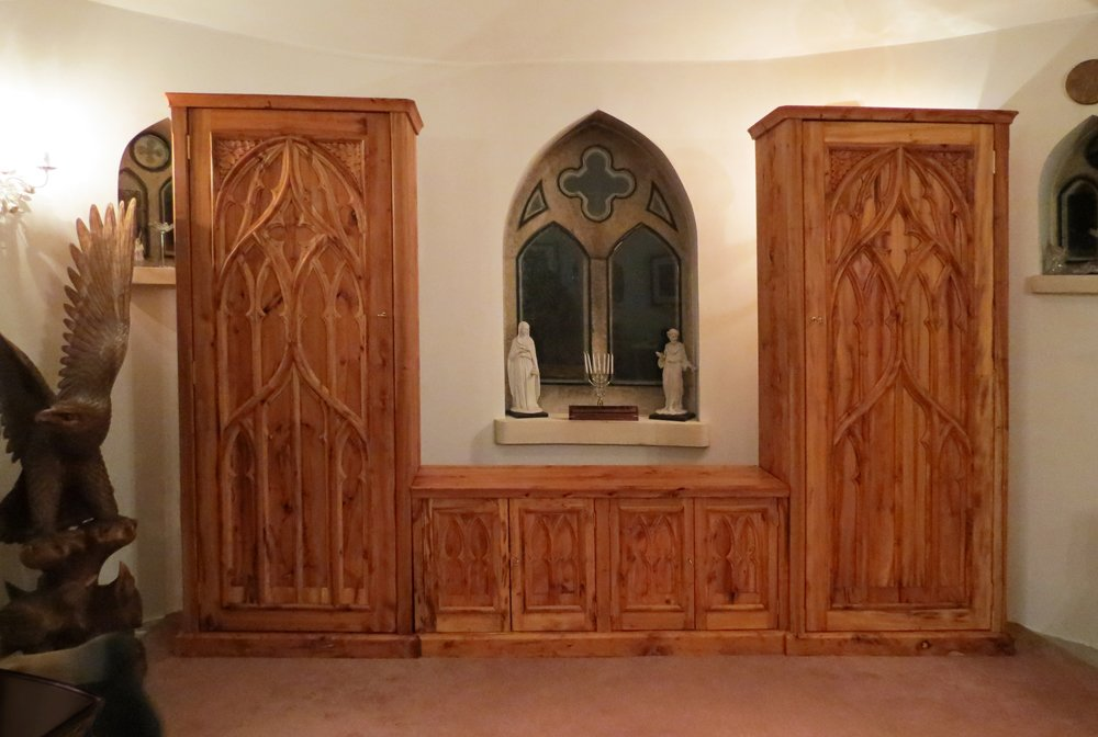 ... Gothic Cabinet From Yew ...