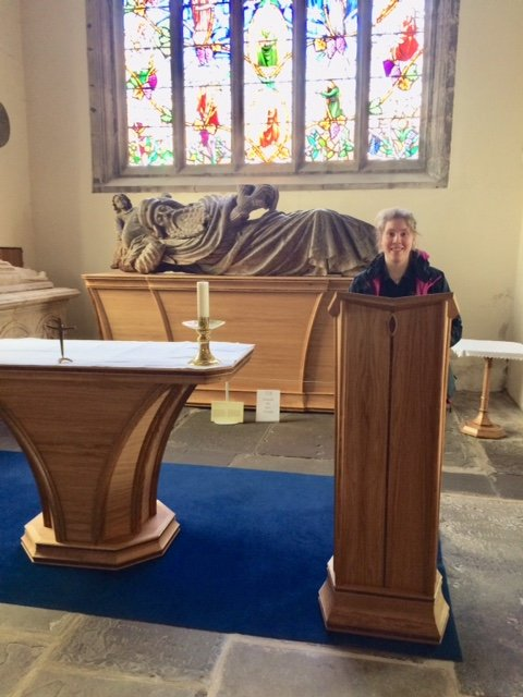 Plinth and Altar at St. Mary's Abergavenny