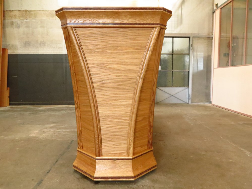 The completed plinth