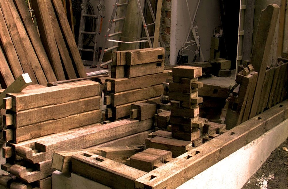 More than 300 pieces of timber are prepared individually before assembly