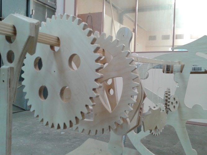 Gears before assembly